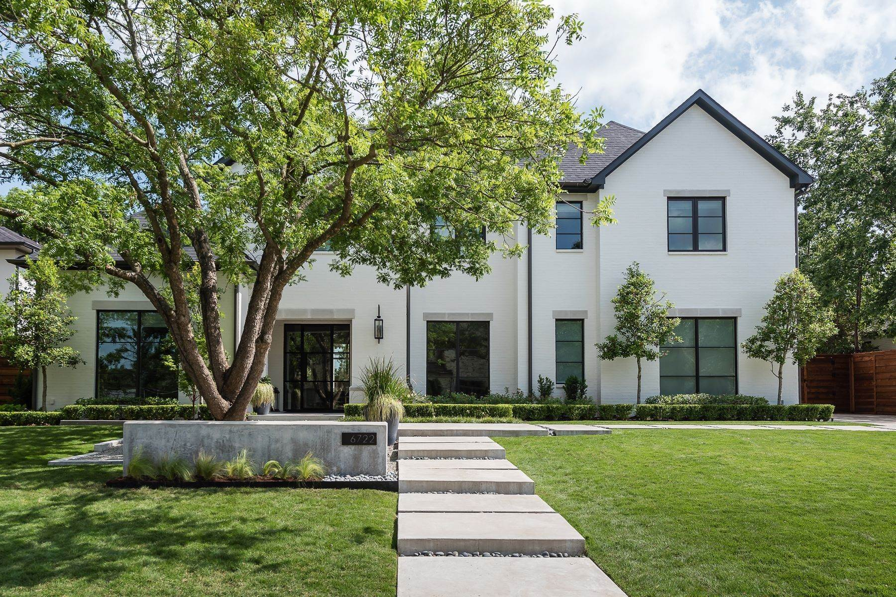 Single Family Homes for Sale at Timeless Transitional 6722 Orchid Lane Dallas, Texas 75230 United States