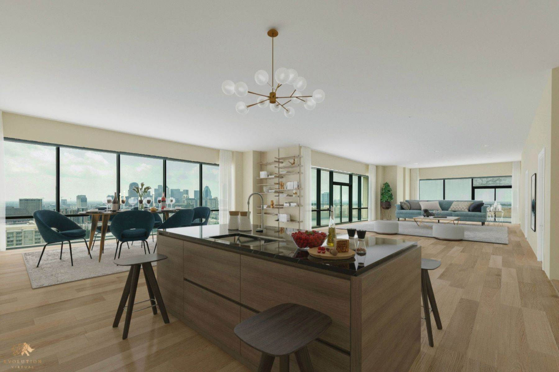 Condominiums for Sale at Three story penthouse shell, with unbelievable downtown Dallas views! 3111 Welborn Street, #1701 Dallas, Texas 75219 United States