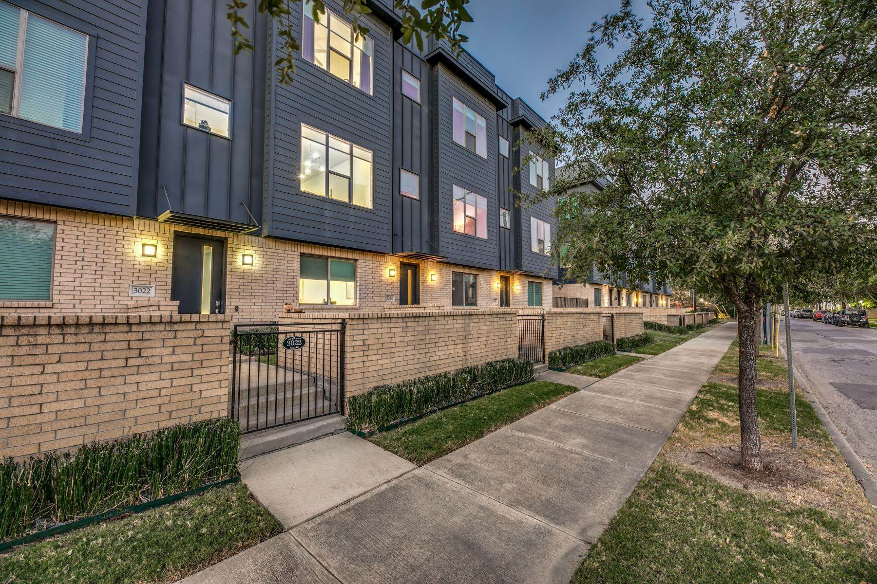 townhouses for Sale at Sleek and Sophisticated Townhome 3022 Zenia Drive Dallas, Texas 75204 United States