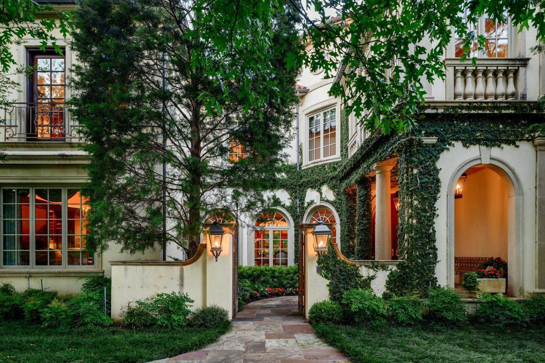 Single Family Homes for Sale at Iconic Italian Renaissance Villa in Highland Park 4300 Armstrong Parkway Highland Park, Texas 75205 United States
