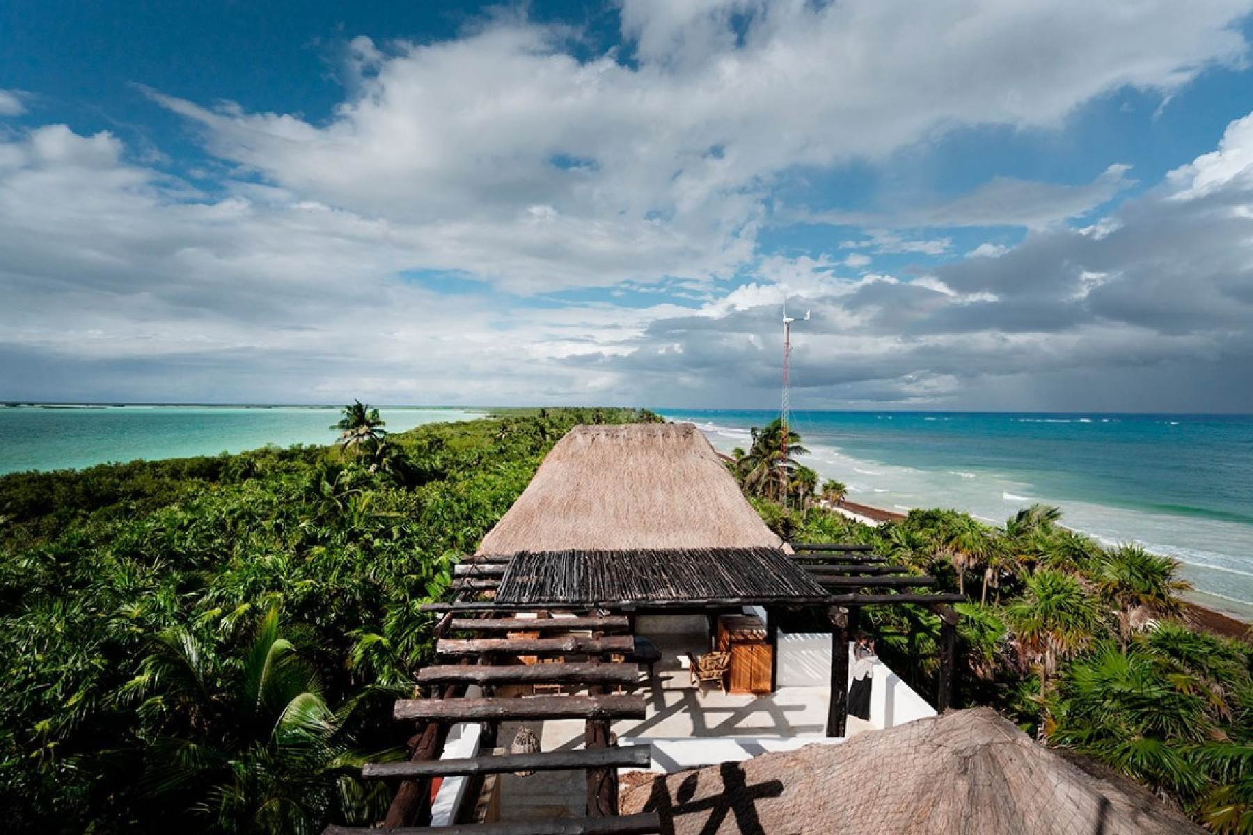 Single Family Homes for Sale at CASA ROSSO BEACHFRONT HOME Sian Kaan, Other Areas In Mexico Mexico