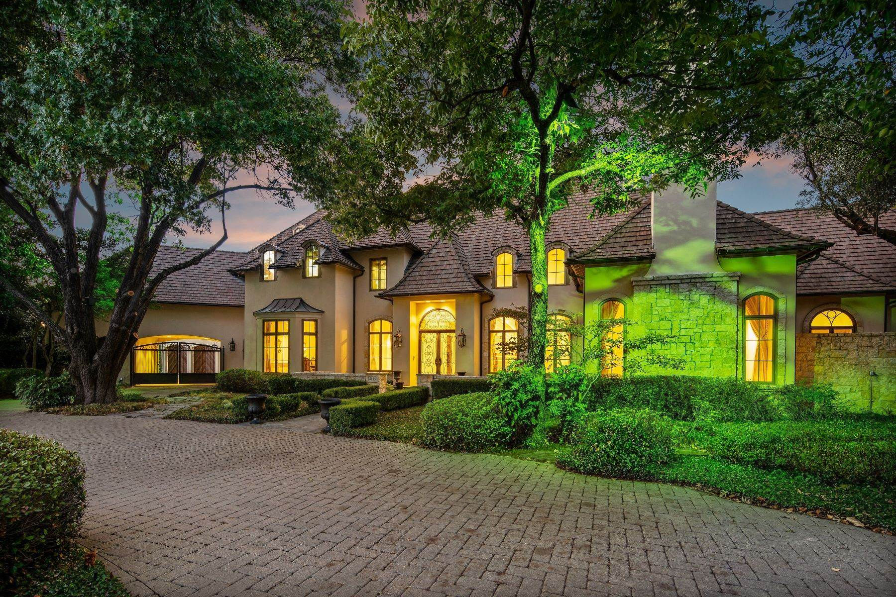 2. Single Family Homes for Sale at Extraordinary Preston Hollow Estate 5115 Ursula Lane Dallas, Texas 75229 United States