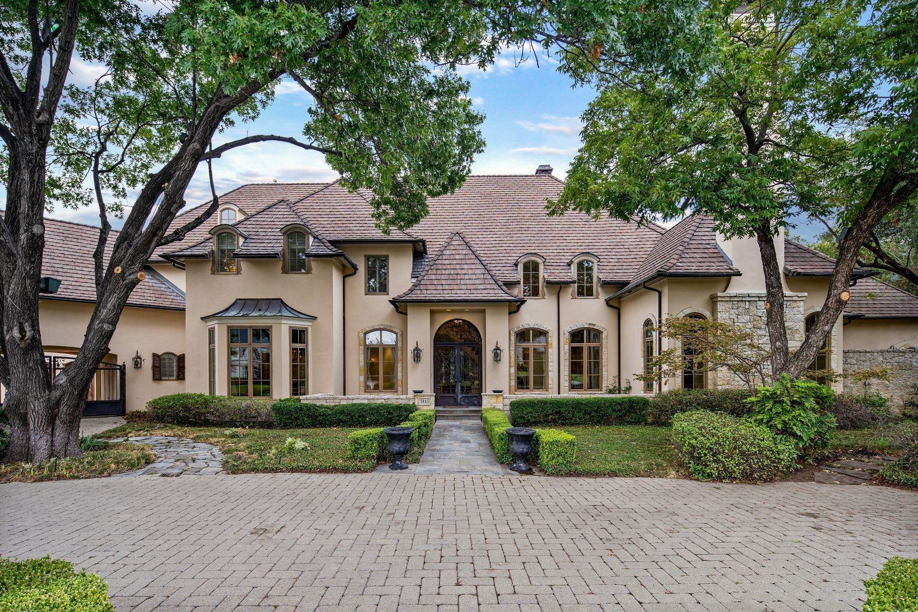 35. Single Family Homes for Sale at Extraordinary Preston Hollow Estate 5115 Ursula Lane Dallas, Texas 75229 United States