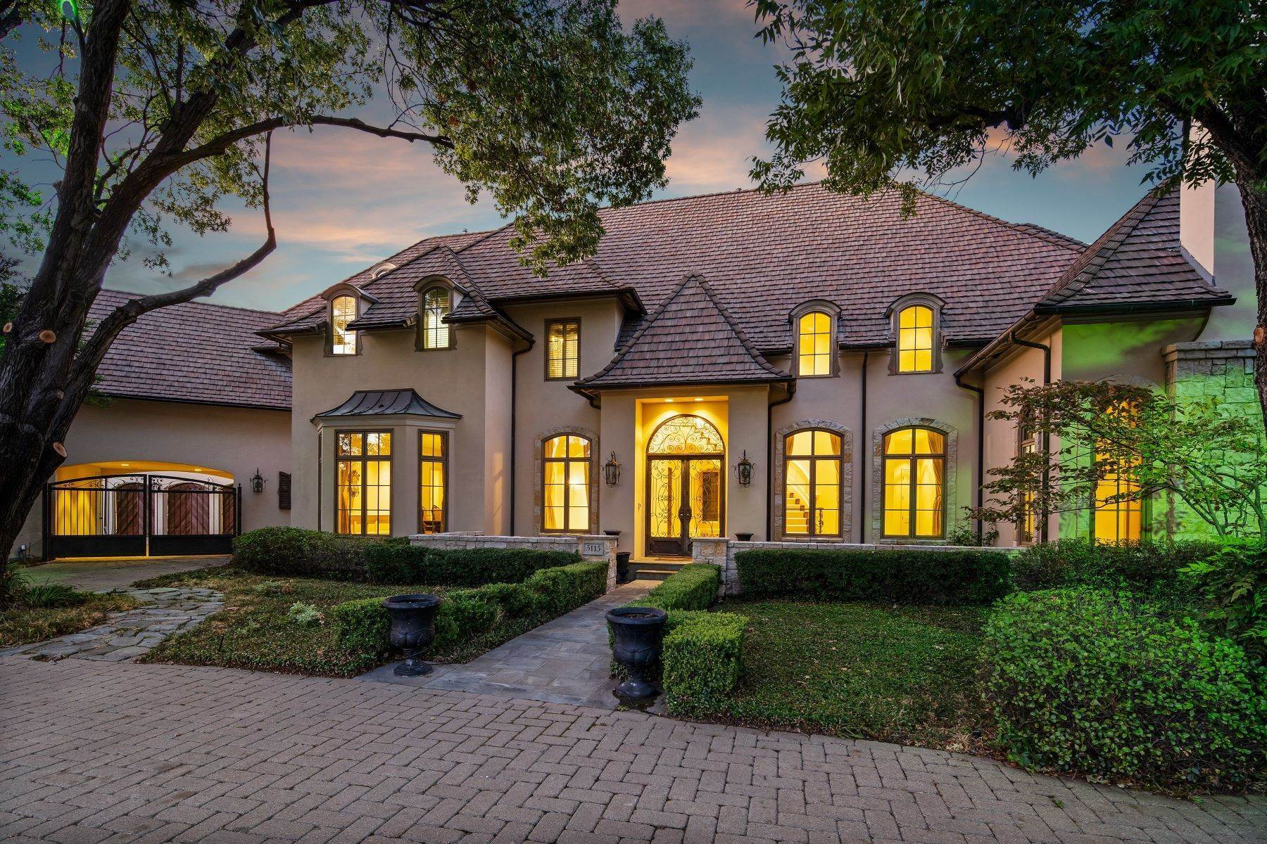 Single Family Homes for Sale at Extraordinary Preston Hollow Estate 5115 Ursula Lane Dallas, Texas 75229 United States
