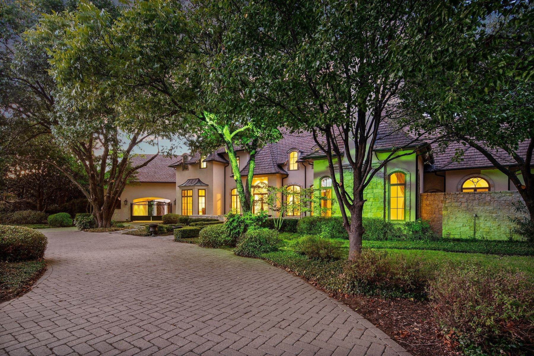 32. Single Family Homes for Sale at Extraordinary Preston Hollow Estate 5115 Ursula Lane Dallas, Texas 75229 United States