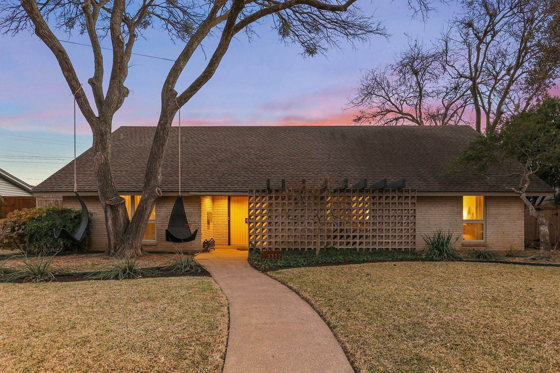 Single Family Homes for Sale at Mid-Century Perfection in Sparkman Club Estates 3332 Camelot Drive Dallas, Texas 75229 United States