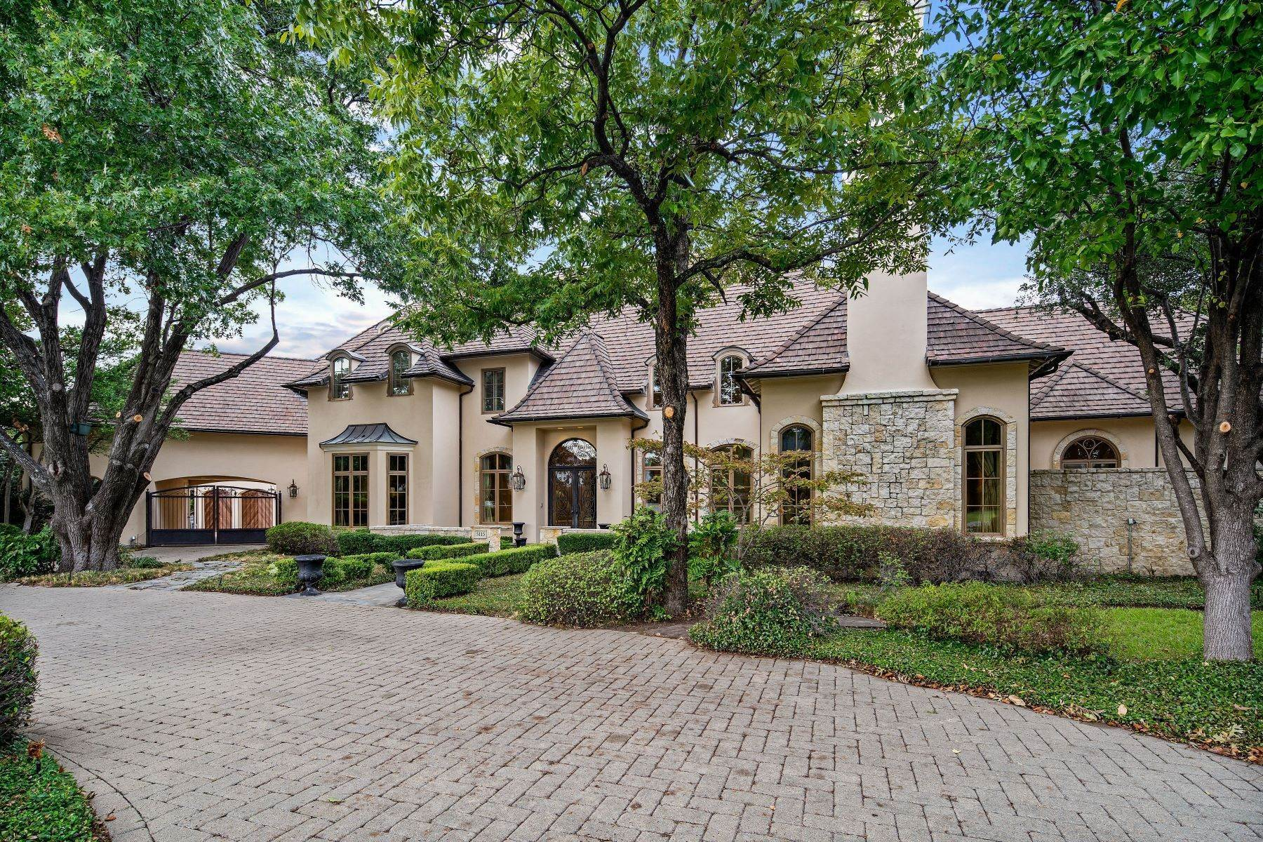 33. Single Family Homes for Sale at Extraordinary Preston Hollow Estate 5115 Ursula Lane Dallas, Texas 75229 United States