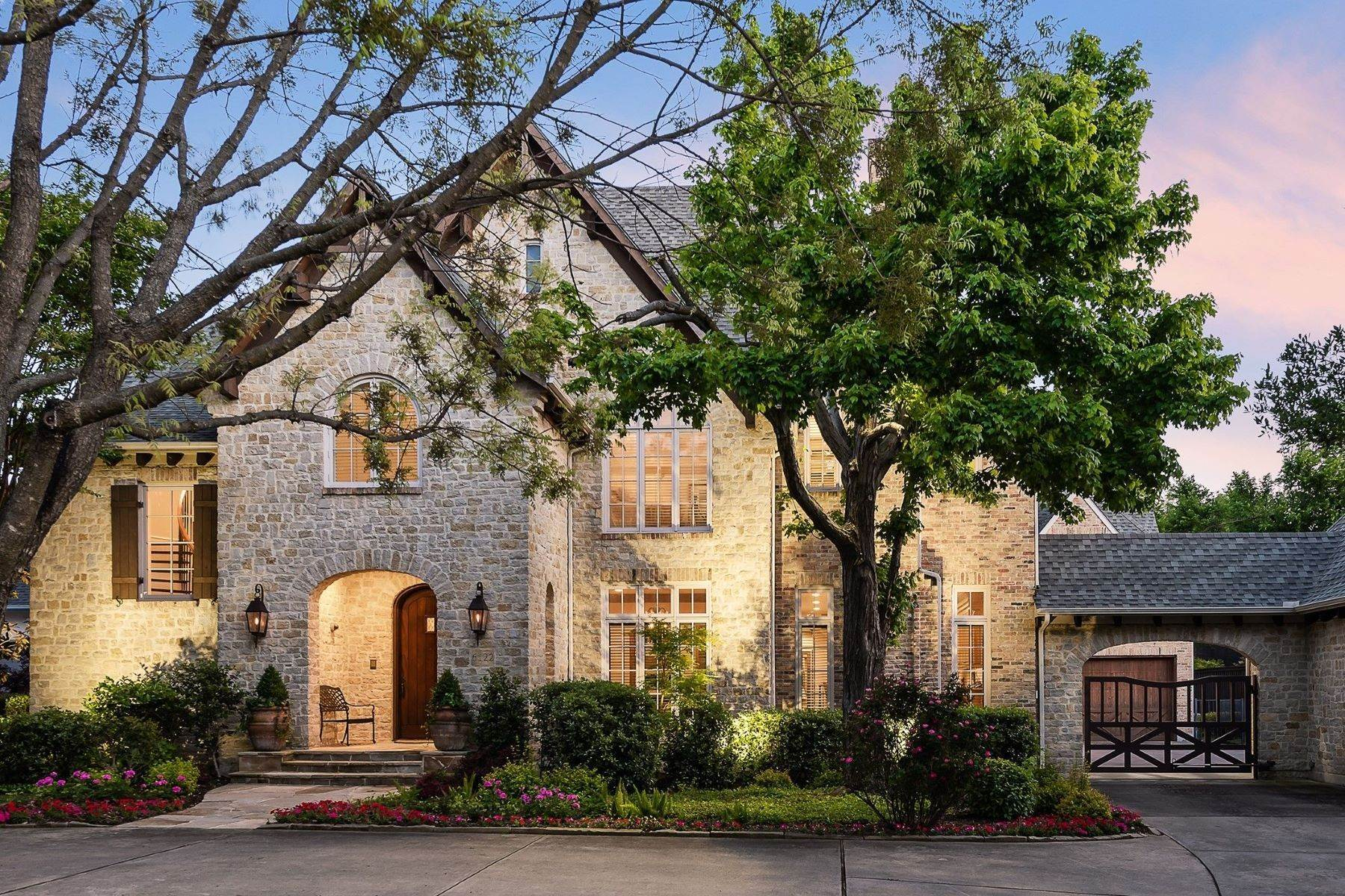 Single Family Homes for Sale at Storybook Preston Hollow Tudor 6122 Norway Road Dallas, Texas 75230 United States