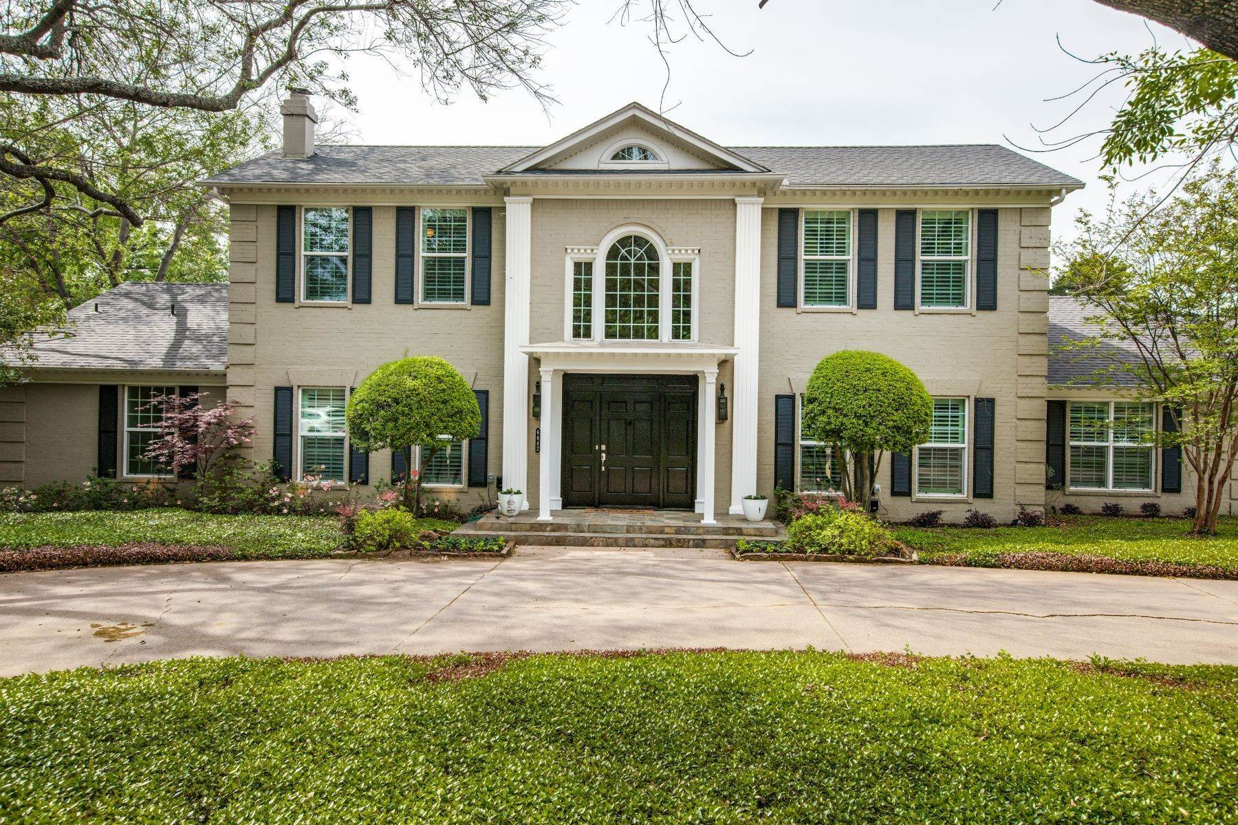 Single Family Homes for Sale at Preston Hollow Traditional meets Transition 6642 Greenwich Lane Dallas, Texas 75230 United States