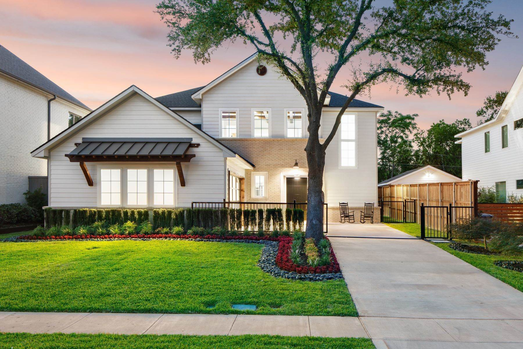 Single Family Homes for Sale at Midway Hollow Modern Transitional 3935 Lively Lane Dallas, Texas 75220 United States